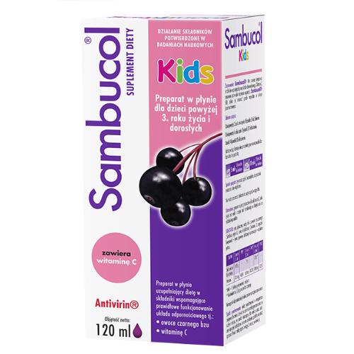 Sambucol Kids płyn 120 ml | Apteka internetowa, antyperspirant, avent, bioderma, bioliq, canpol, cera trądzikowa preparaty, dermokosmetyki, geriavit, grzybica leki bez recepty, himalaya, kreon, leki bez recepty, leki na grypę, leki na przeziębienie, leki na uspokojenie, mascara med., maxigra go, maxon, mensil, mugga, mustela, odchudzanie leki, odporność, pirolam, tabletki na ból gardła, test ciążowy, tran mollers, vichy, witamina d, wszy preparaty, zapalenie stawów, zestawy kosmetyków, ziaja
