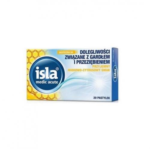 Isla-Medic acute miodowo-cytr.20 pastyl. | Apteka internetowa, antyperspirant, avent, bioderma, bioliq, canpol, cera trądzikowa preparaty, dermokosmetyki, geriavit, grzybica leki bez recepty, himalaya, kreon, leki bez recepty, leki na grypę, leki na przeziębienie, leki na uspokojenie, mascara med., maxigra go, maxon, mensil, mugga, mustela, odchudzanie leki, odporność, pirolam, tabletki na ból gardła, test ciążowy, tran mollers, vichy, witamina d, wszy preparaty, zapalenie stawów, zestawy kosmetyków, ziaja