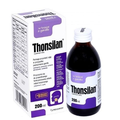 Thonsilan syrop 200 ml | Apteka internetowa, antyperspirant, avent, bioderma, bioliq, canpol, cera trądzikowa preparaty, dermokosmetyki, geriavit, grzybica leki bez recepty, himalaya, kreon, leki bez recepty, leki na grypę, leki na przeziębienie, leki na uspokojenie, mascara med., maxigra go, maxon, mensil, mugga, mustela, odchudzanie leki, odporność, pirolam, tabletki na ból gardła, test ciążowy, tran mollers, vichy, witamina d, wszy preparaty, zapalenie stawów, zestawy kosmetyków, ziaja