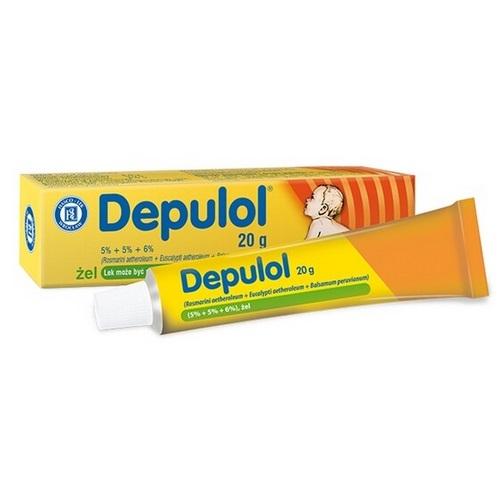 Depulol żel 20 g | Apteka internetowa, antyperspirant, avent, bioderma, bioliq, canpol, cera trądzikowa preparaty, dermokosmetyki, geriavit, grzybica leki bez recepty, himalaya, kreon, leki bez recepty, leki na grypę, leki na przeziębienie, leki na uspokojenie, mascara med., maxigra go, maxon, mensil, mugga, mustela, odchudzanie leki, odporność, pirolam, tabletki na ból gardła, test ciążowy, tran mollers, vichy, witamina d, wszy preparaty, zapalenie stawów, zestawy kosmetyków, ziaja