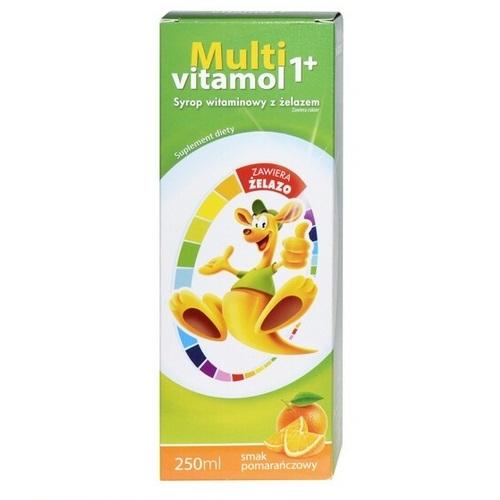 Multivitamol 1+ Syrop wit. z żelazem 250ml | Apteka internetowa, antyperspirant, avent, bioderma, bioliq, canpol, cera trądzikowa preparaty, dermokosmetyki, geriavit, grzybica leki bez recepty, himalaya, kreon, leki bez recepty, leki na grypę, leki na przeziębienie, leki na uspokojenie, mascara med., maxigra go, maxon, mensil, mugga, mustela, odchudzanie leki, odporność, pirolam, tabletki na ból gardła, test ciążowy, tran mollers, vichy, witamina d, wszy preparaty, zapalenie stawów, zestawy kosmetyków, ziaja