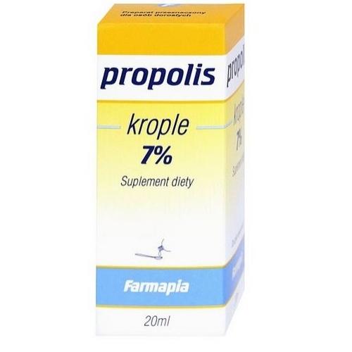 Propolis 7% krople 20 ml | Apteka internetowa, antyperspirant, avent, bioderma, bioliq, canpol, cera trądzikowa preparaty, dermokosmetyki, geriavit, grzybica leki bez recepty, himalaya, kreon, leki bez recepty, leki na grypę, leki na przeziębienie, leki na uspokojenie, mascara med., maxigra go, maxon, mensil, mugga, mustela, odchudzanie leki, odporność, pirolam, tabletki na ból gardła, test ciążowy, tran mollers, vichy, witamina d, wszy preparaty, zapalenie stawów, zestawy kosmetyków, ziaja