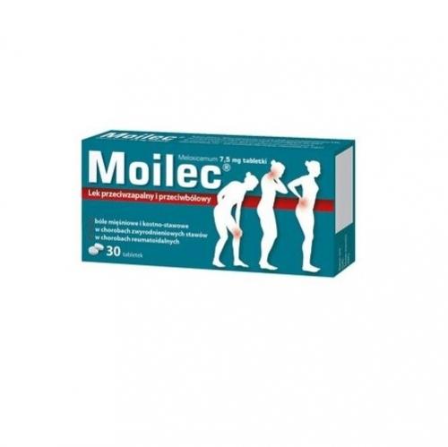Moilec tabl. 7,5 mg 30 tabl. | Apteka internetowa, antyperspirant, avent, bioderma, bioliq, canpol, cera trądzikowa preparaty, dermokosmetyki, geriavit, grzybica leki bez recepty, himalaya, kreon, leki bez recepty, leki na grypę, leki na przeziębienie, leki na uspokojenie, mascara med., maxigra go, maxon, mensil, mugga, mustela, odchudzanie leki, odporność, pirolam, tabletki na ból gardła, test ciążowy, tran mollers, vichy, witamina d, wszy preparaty, zapalenie stawów, zestawy kosmetyków, ziaja