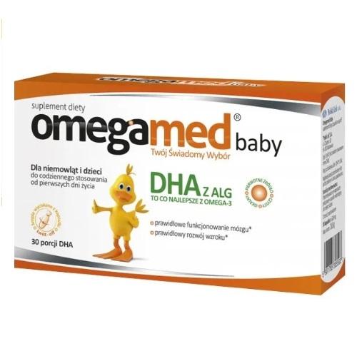 Omegamed Baby kaps.twistoff 30 kaps. | Apteka internetowa, antyperspirant, avent, bioderma, bioliq, canpol, cera trądzikowa preparaty, dermokosmetyki, geriavit, grzybica leki bez recepty, himalaya, kreon, leki bez recepty, leki na grypę, leki na przeziębienie, leki na uspokojenie, mascara med., maxigra go, maxon, mensil, mugga, mustela, odchudzanie leki, odporność, pirolam, tabletki na ból gardła, test ciążowy, tran mollers, vichy, witamina d, wszy preparaty, zapalenie stawów, zestawy kosmetyków, ziaja