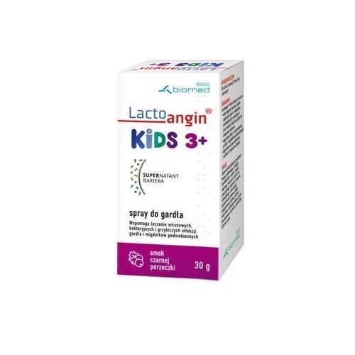 Lactoangin Kids czarn.porz.spray d/gar.30g | Apteka internetowa, antyperspirant, avent, bioderma, bioliq, canpol, cera trądzikowa preparaty, dermokosmetyki, geriavit, grzybica leki bez recepty, himalaya, kreon, leki bez recepty, leki na grypę, leki na przeziębienie, leki na uspokojenie, mascara med., maxigra go, maxon, mensil, mugga, mustela, odchudzanie leki, odporność, pirolam, tabletki na ból gardła, test ciążowy, tran mollers, vichy, witamina d, wszy preparaty, zapalenie stawów, zestawy kosmetyków, ziaja