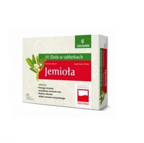 Jemioła tabl. 60 tabl.COLFARM | Apteka internetowa, antyperspirant, avent, bioderma, bioliq, canpol, cera trądzikowa preparaty, dermokosmetyki, geriavit, grzybica leki bez recepty, himalaya, kreon, leki bez recepty, leki na grypę, leki na przeziębienie, leki na uspokojenie, mascara med., maxigra go, maxon, mensil, mugga, mustela, odchudzanie leki, odporność, pirolam, tabletki na ból gardła, test ciążowy, tran mollers, vichy, witamina d, wszy preparaty, zapalenie stawów, zestawy kosmetyków, ziaja
