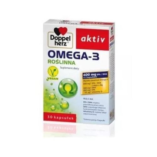Doppelherz aktiv Omega-3 Roślinna 30 kaps. | Apteka internetowa, antyperspirant, avent, bioderma, bioliq, canpol, cera trądzikowa preparaty, dermokosmetyki, geriavit, grzybica leki bez recepty, himalaya, kreon, leki bez recepty, leki na grypę, leki na przeziębienie, leki na uspokojenie, mascara med., maxigra go, maxon, mensil, mugga, mustela, odchudzanie leki, odporność, pirolam, tabletki na ból gardła, test ciążowy, tran mollers, vichy, witamina d, wszy preparaty, zapalenie stawów, zestawy kosmetyków, ziaja