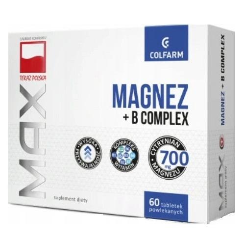 Magnez + B Complex tab.pow.60 tabl.COLFARM   Apteka internetowa, antyperspirant, avent, bioderma, bioliq, canpol, cera trądzikowa preparaty, dermokosmetyki, geriavit, grzybica leki bez recepty, himalaya, kreon, leki bez recepty, leki na grypę, leki na przeziębienie, leki na uspokojenie, mascara med., maxigra go, maxon, mensil, mugga, mustela, odchudzanie leki, odporność, pirolam, tabletki na ból gardła, test ciążowy, tran mollers, vichy, witamina d, wszy preparaty, zapalenie stawów, zestawy kosmetyków, ziaja