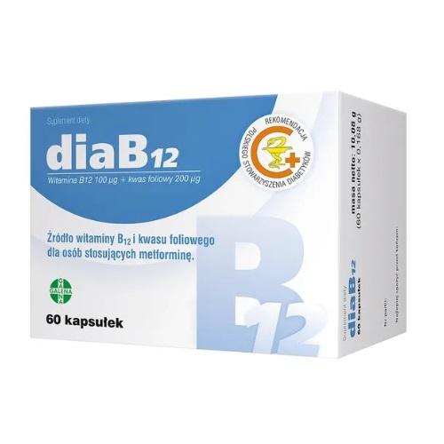 DiaB12 kaps. 60 kaps. | Apteka internetowa, antyperspirant, avent, bioderma, bioliq, canpol, cera trądzikowa preparaty, dermokosmetyki, geriavit, grzybica leki bez recepty, himalaya, kreon, leki bez recepty, leki na grypę, leki na przeziębienie, leki na uspokojenie, mascara med., maxigra go, maxon, mensil, mugga, mustela, odchudzanie leki, odporność, pirolam, tabletki na ból gardła, test ciążowy, tran mollers, vichy, witamina d, wszy preparaty, zapalenie stawów, zestawy kosmetyków, ziaja