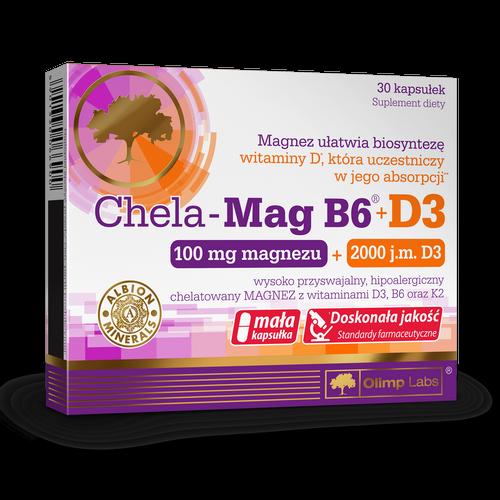 Olimp Chela-Mag B6+D3 kaps. 30 kaps. | Apteka internetowa, antyperspirant, avent, bioderma, bioliq, canpol, cera trądzikowa preparaty, dermokosmetyki, geriavit, grzybica leki bez recepty, himalaya, kreon, leki bez recepty, leki na grypę, leki na przeziębienie, leki na uspokojenie, mascara med., maxigra go, maxon, mensil, mugga, mustela, odchudzanie leki, odporność, pirolam, tabletki na ból gardła, test ciążowy, tran mollers, vichy, witamina d, wszy preparaty, zapalenie stawów, zestawy kosmetyków, ziaja