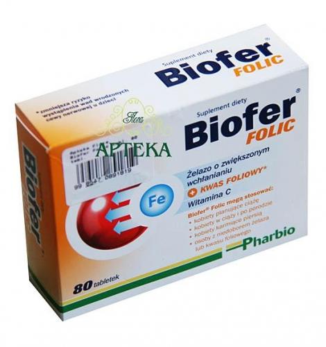 Biofer Folic tabl. 80 tabl.