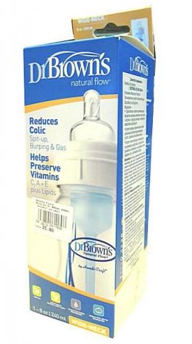 Butelka Dr BROWN 240ml antykol.sz.szyj.
