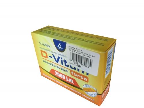 D-Vitum Forte Wit.D 2000 j.m d/dor.36 kap.