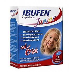 Ibufen Junior kaps.miękkie 0,2 g 10 kaps.