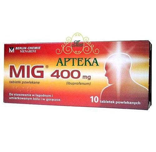 MIG tabl.powl. 0,4 g 10 tabl.