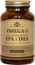 SOLGAR Omega 3 natur.źródło EPA i DHA 60ka