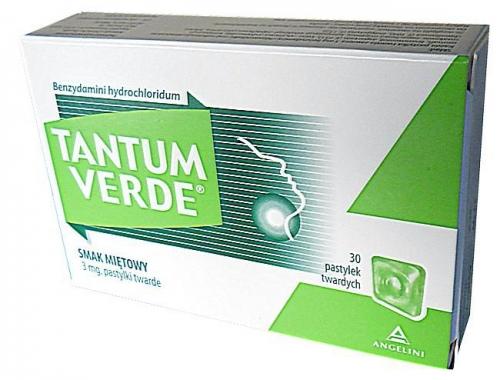 Tantum Verde smak miętowy 30 tabl